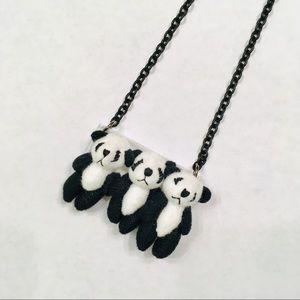 Panda plush necklace by onch movement